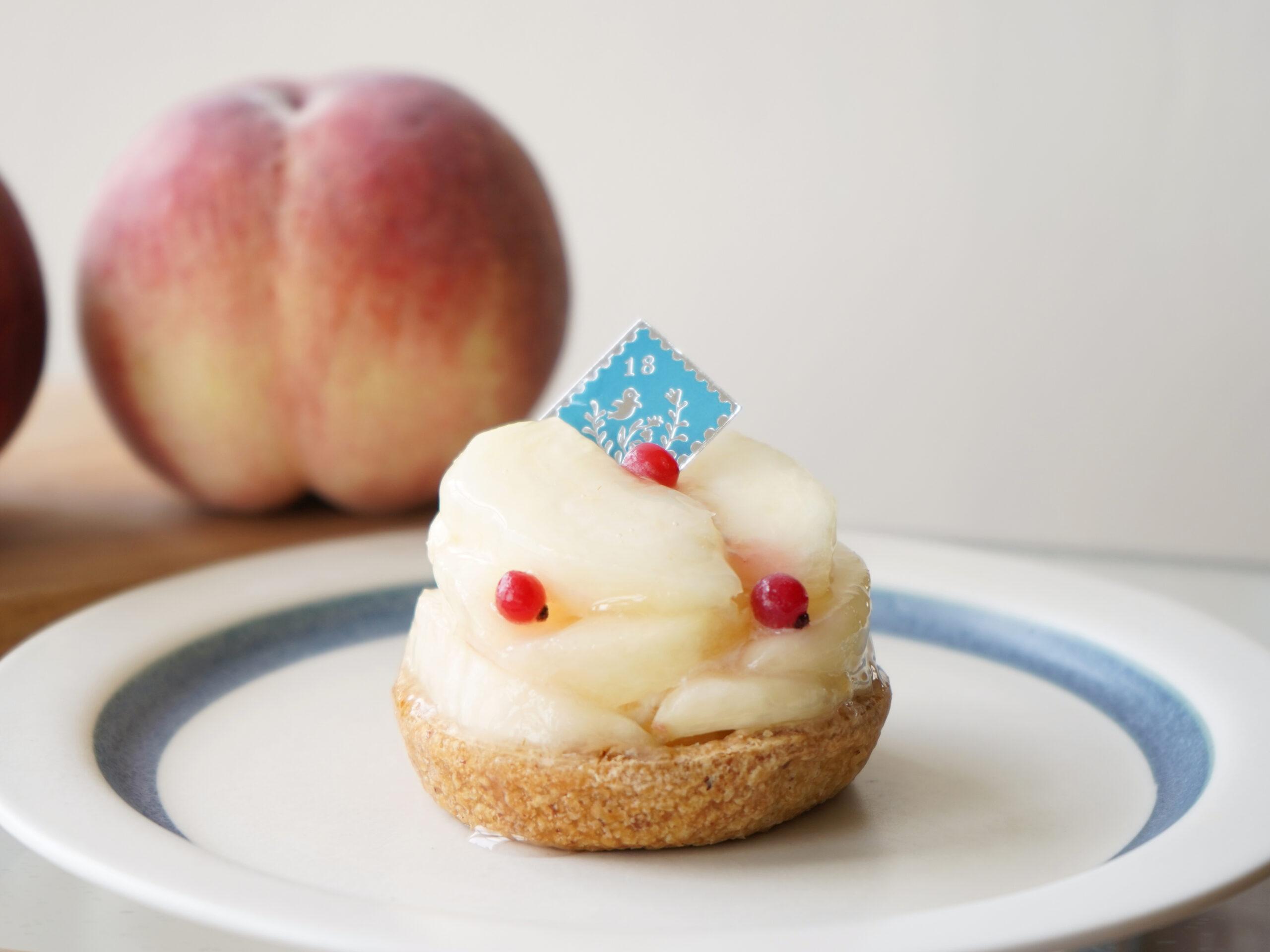 今年も「桃のタルト」ができました!